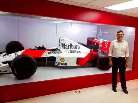 McLaren MP4/5 do Ayrton Senna de 1988 no Instituto Ayrton Sennna